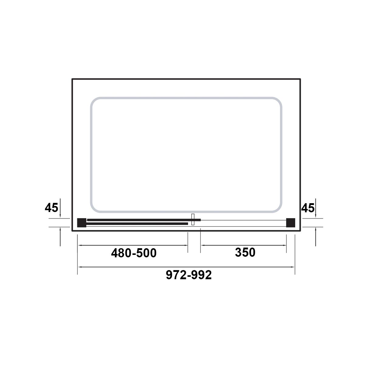Kudos Original Straight Sliding Shower Enclosure 1000 x 900