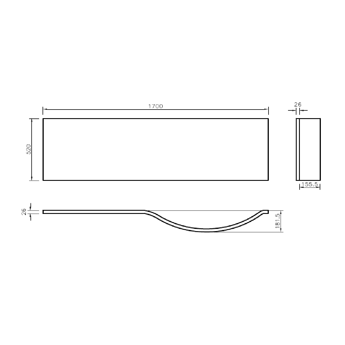prymo p shape right hand shower bath 1700 x 850 view dimensions p r prymo p shaped front bath panel 1700m 1 jpg