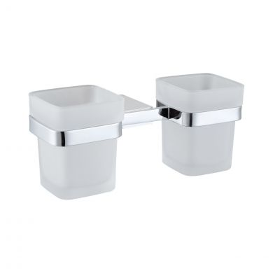 Alfred Victoria Corby Tumbler Holder & Double Cup Chrome