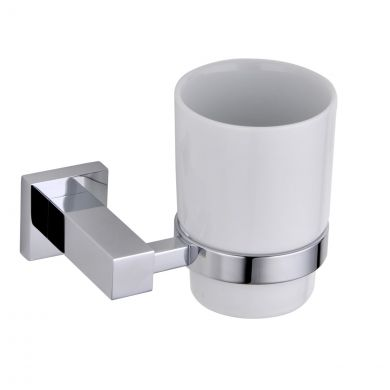 Alfred Victoria Selby Tumbler Holder & Cup Chrome