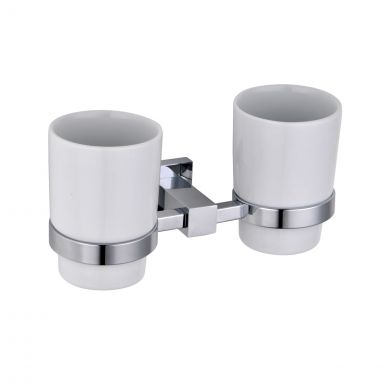 Alfred Victoria Selby Tumbler Holder & Double Cup Chrome