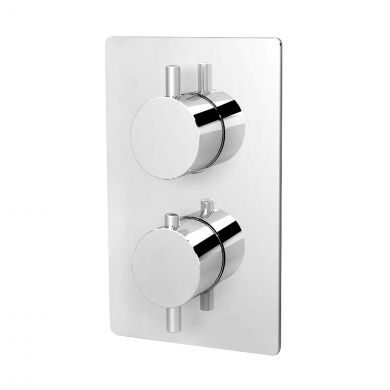 Rondo Thermostatic Twin Concealed Shower Valve