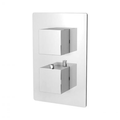 Bordo Thermostatic Twin Concealed Shower Valve