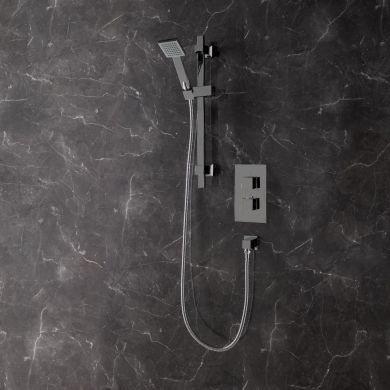 Bordo Thermostatic Twin Concealed Shower Valve System