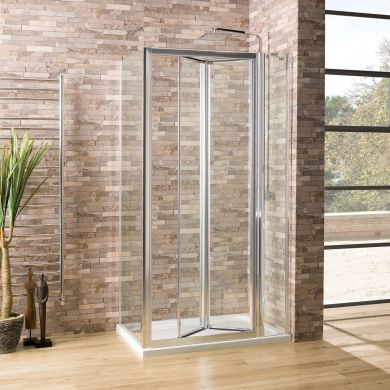 Coral 6mm Bifold Shower Enclosure 1100 x 760mm