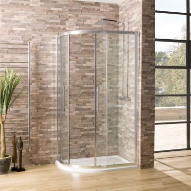 Coral 6mm Offset Quadrant Shower Enclosure 1300 x 760mm