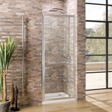 Coral 6mm Pivot Shower Door 760mm