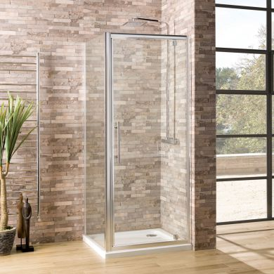 Coral 6mm Pivot Shower Enclosure 900 x 900mm