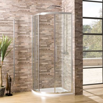 Coral 6mm Quadrant Shower Enclosure 1000 x 1000mm