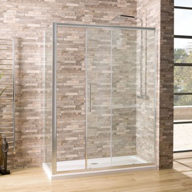 Coral 6mm Sliding Shower Enclosure 1500 x 700mm