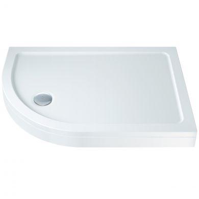 Elements Slimline Offset Quadrant Shower Tray with Riser Kit 900 x 760mm Left Hand