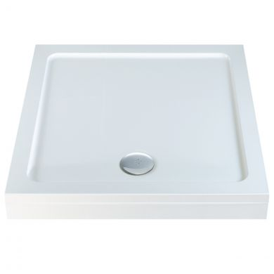 Elements Slimline Square Shower Tray with Riser Kit 1100 x 1100mm