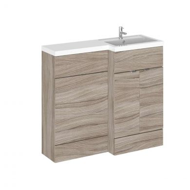 Hudson Reed Fusion Combination Furniture & Basin Driftwood 1005mm Right Hand