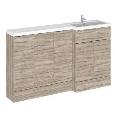 Hudson Reed Fusion Combination Furniture & Basin Driftwood 1505mm Right Hand Option C