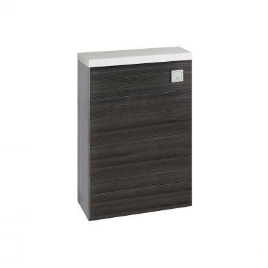 Hudson Reed Fusion Back To Wall Toilet Unit & Worktop Hacienda Black 600mm