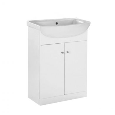 Ikoma Vanity Unit & Basin White 550mm