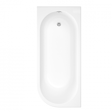 Trojancast J Shape Reinforced Bath 1695 x 745 with Panel Left Hand