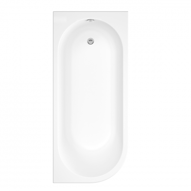 Trojancast J Shape Reinforced Bath 1695 x 745 with Panel Right Hand
