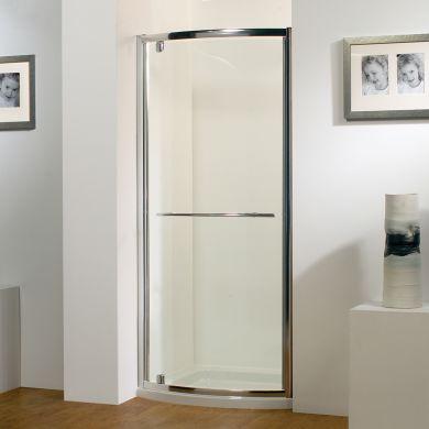 Kudos Original Bowed Pivot Shower Door 800mm with Concept 2 Shower Tray