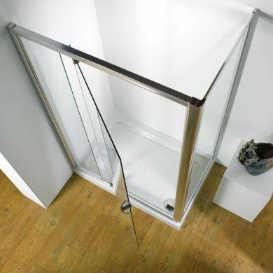 Kudos Original Straight Pivot Shower Enclosure 1000 x 760mm