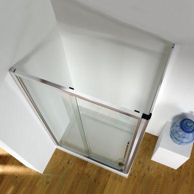 Kudos Original Straight Sliding Shower Enclosure 1000 x 800mm