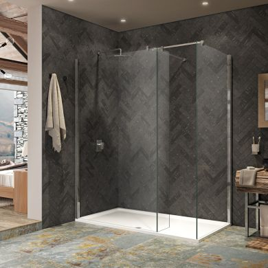 Kudos 10mm Ultimate 2 Walk In Shower Enclosure 1200 x 800mm with Shower Tray