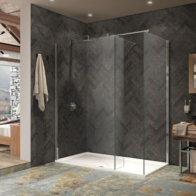 Kudos 10mm Ultimate 2 Walk In Shower Enclosure 1400 x 760mm with Shower Tray