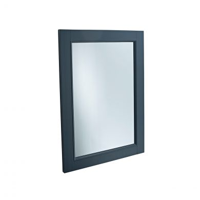 Tavistock Lansdown Wooden Framed Mirror Dark Grey 570 x 800mm