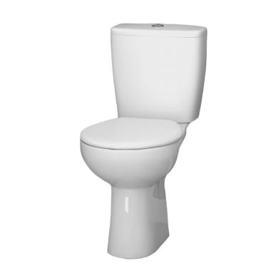 Lecico Atlas Smooth Close Coupled Toilet with Soft Close Seat