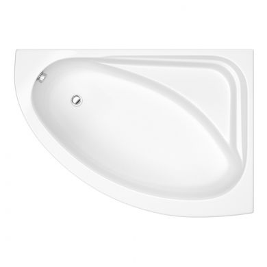 Trojancast Orlando Reinforced Corner Bath 1500 x 1060 with Panel Right Hand