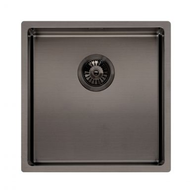 Reginox Miami Stainless Steel Kitchen Sink Gun Metal 440 x 440mm