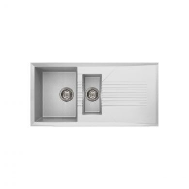 Reginox Tekno 1.5 Bowl Granite Kitchen Sink White 1000 x 500mm