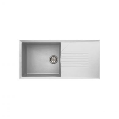 Reginox Tekno 1 Bowl Granite Kitchen Sink White 1000 x 500mm