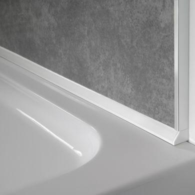 Showerwall Sureseal PVC Bottom Trim White 2400mm