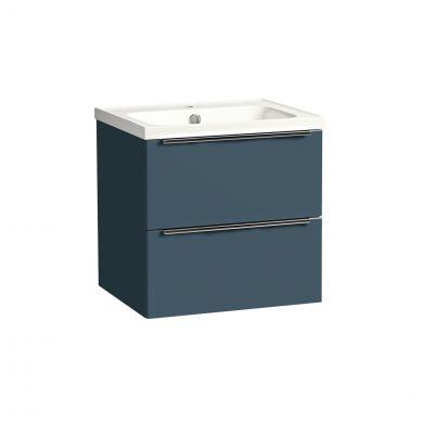 Tavistock Cadence Wall Hung Vanity Unit & Ceramic Basin Oxford Blue 500mm