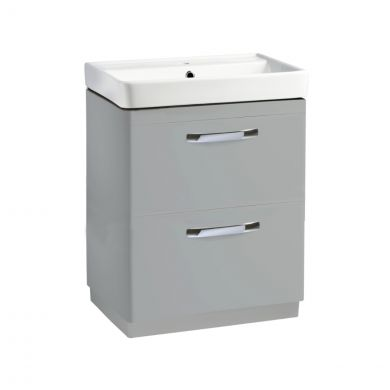 Tavistock Compass 2 Drawer Vanity Unit & Basin Grey 600mm
