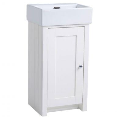 Tavistock Lansdown Vanity Unit & Basin Linen White 425mm