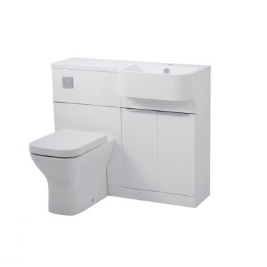 Tavistock Match Furniture Run & Basin White 1000mm Right Hand