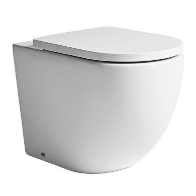 Tavistock Orbit Back To Wall Rimless Toilet with Soft Close Seat