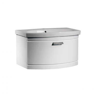 Tavistock Tempo Wall Hung Vanity Unit & Basin White 650mm