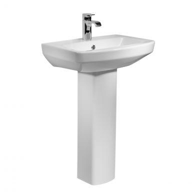 Tavistock Vibe 1 Tap Hole Basin & Pedestal 550mm
