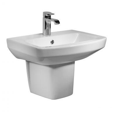 Tavistock Vibe 1 Tap Hole Basin & Semi Pedestal 550mm