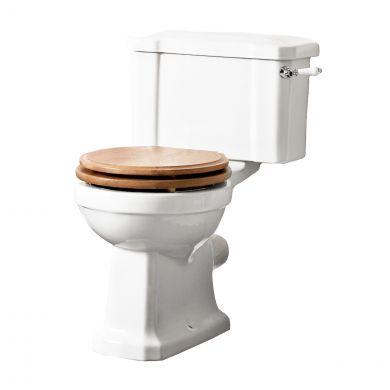 Tavistock Vitoria Close Coupled Toilet with Oak Soft Close Seat