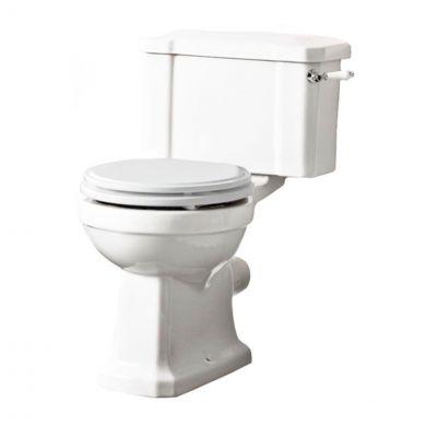 Tavistock Vitoria Close Coupled Toilet with White Soft Close Seat