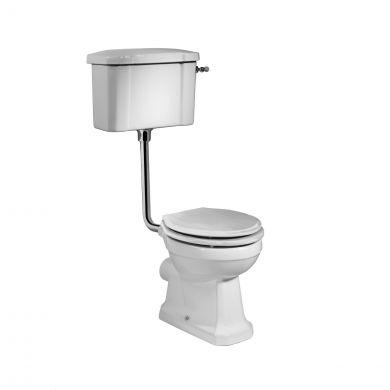 Tavistock Vitoria Low Level Toilet with White Soft Close Seat