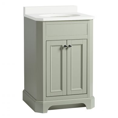 Tavistock Vitoria Vanity Unit & Undermount Basin Pebble Grey 600mm