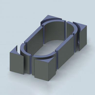 Trojan Oval Modular Tiling Board Solution 1800 x 800