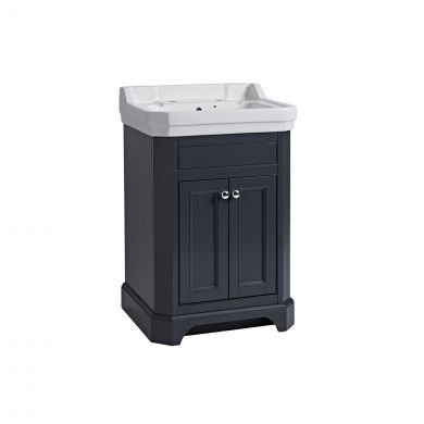 Tavistock Vitoria Vanity Unit & 2 Tap Hole Basin Dark Grey 600mm