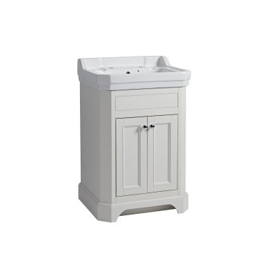 Tavistock Vitoria Vanity Unit & 2 Tap Hole Basin White 600mm