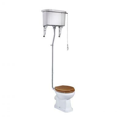 Tavistock Vitoria High Level Toilet with Oak Soft Close Seat